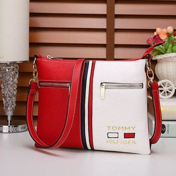 """Tommy Hilfiger"" Women Trending Casual Personality Fashion Multicolor Single Shoulder Messenger Bag G"