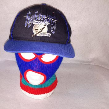 Vintage The GAME Tampa Bay Lightning 90s snapback hat cap Glued Tag NHL Hockey