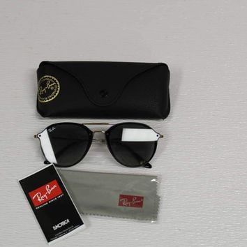 Ray Ban Unisex Sunglasses Blaze Double Bridge RB4292N 601/11 Black/Gold/Grey