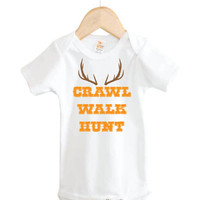 Crawl Walk Hunt Onesuit // Hunting Onesuit // baby country // baby clothing
