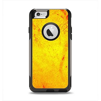 The Orange Vibrant Texture Apple iPhone 6 Otterbox Commuter Case Skin Set