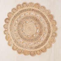 Lakho Woven Jute Round Rug | Urban Outfitters