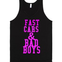 Fast Cars And Bad Boys-Unisex Black Tank
