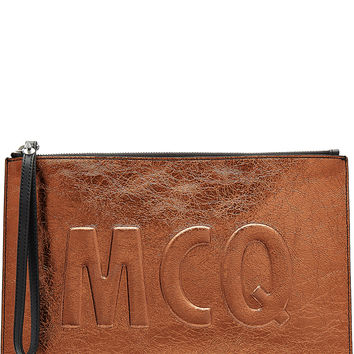 McQ Alexander McQueen - Metallic Leather Clutch