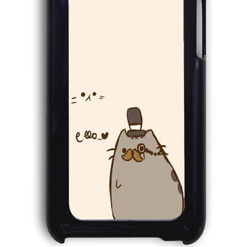 IPod 4 Case - Hard (PC) Cover with Pusheen The Cat Plastic Case Design