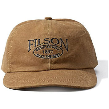 Filson 60060 Tin Cloth Low Profile Cap (Medium, Tan)