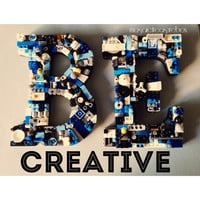 Custom letter E and B, mosaic wall letter, toy bricks
