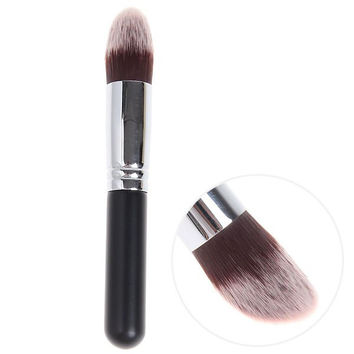 Copper Tube Brush Make-up Cosmetic Tools - Black and Silver