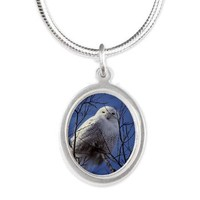 Snowy White Owl Silver Oval Necklace> Snowy White Owl> Diane Clancy's Fine Art Shop