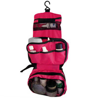 Evelots Travel Toiletry Bag, Portable Shower Caddy, Travel Kit Pouch, Magenta
