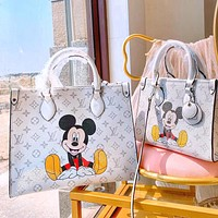 LV shopping bag Mickey shopping bag retro style vintage white mouse cute