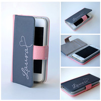 Personalized Wallet Phone Case, iPhone Wallet Case, iPhone 5, iPhone 6, Samsung Galaxy S4, S5