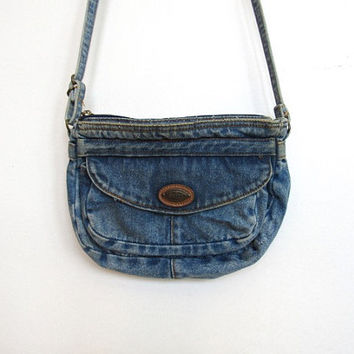 Vintage 1980 - 90s Shane Small Denim / Jean Purse / Cross body Bag