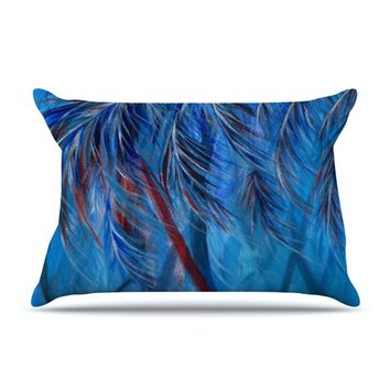 "Rosie Brown ""Red White Tropical"" Pillow Case"