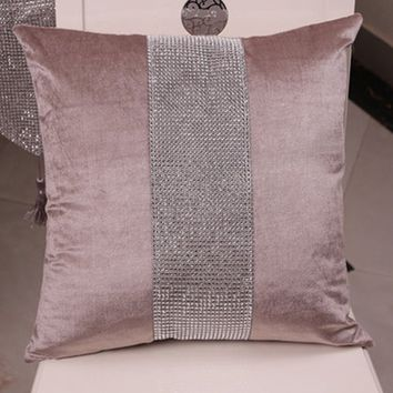 Trendy household  Diamond velvet pillow bed sofa cushions   Without the core-core