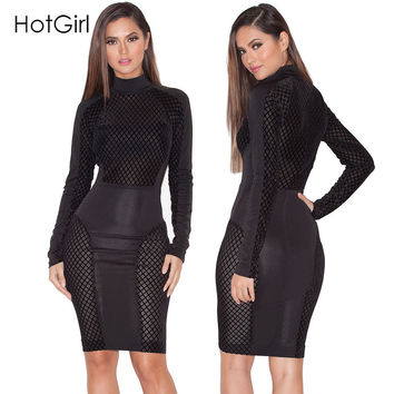 Summer  Black Patchwork Mesh Sheer Party Dresses Stretchy Sexy Club Wear White Bodycon Dress Plus Size