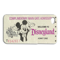 Disney Case Disneyland Case Ticket Case Cute Case iPhone 4 Case iPhone 5 Case iPhone 4s Case iPhone 5s Case iPod 5 Case iPod 4 Case 50s Case