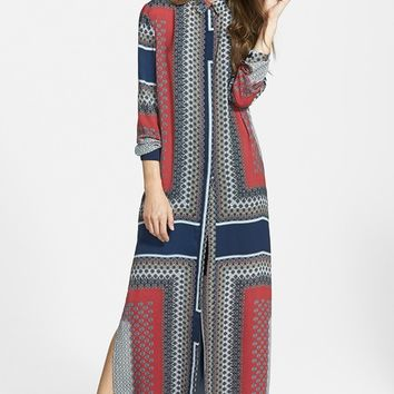Missguided Button Front Maxi Shirtdress | Nordstrom