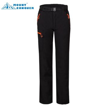 Mammoth Women's Outdoor Sportswear Hiking Trekking Camping Climbing Skiing Female Thermal Trousers Winter Softshell Fleece Pants