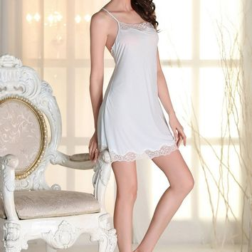 Sexy Silk Satin Chemise Nightgowns