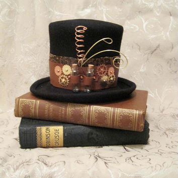 $65.00 Mini top hat Florence steampunk burlesque gothic Lolita by tanya2s
