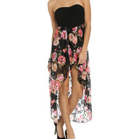 Printed Lace 2fer Dress | Shop Just Arrived at Wet Seal