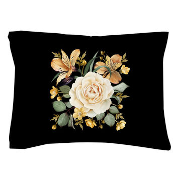 Evening Rose Pillow Shams