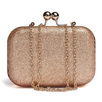 Woman Sparkling Glitter Chain Shoulder Bag