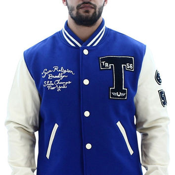 True Religion Men's Richie Letterman Varsity Jacket Coat