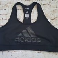 New NWT Adidas Techfit Climalite Racerback Sports Bra Black Size L Large