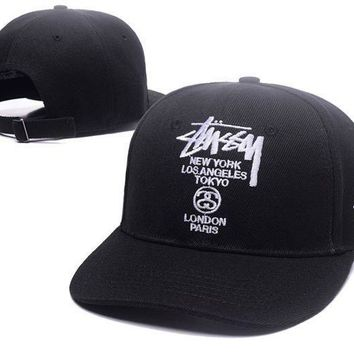 Fashion Stussy Embroidered Outdoor Baseball Cap Hats Black