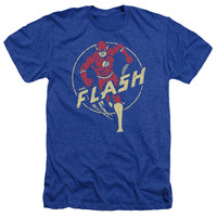 DC/FLASH COMICS-ADULT HEATHER-ROYAL BLUE