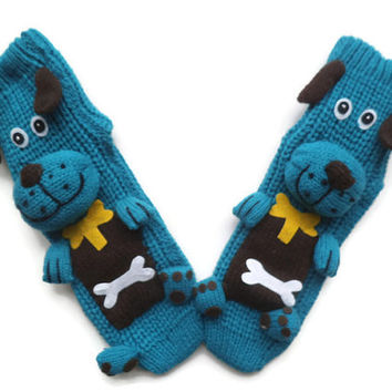 SALE handmade women socks with animal, anti skid socks,3D socks, house slippers, , socks with dog, unique socks