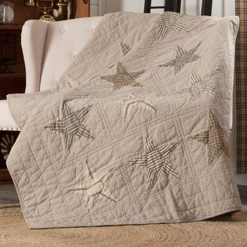 Sawyer Mill Star Charcoal Throw