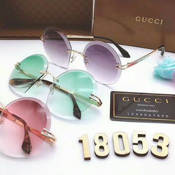 GUCCI Fashion Women Candy Color Shades Eyeglasses Glasses Sunglasses(6-Color) I-8090-YJ