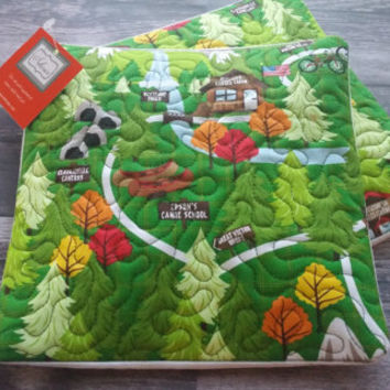 Quilted Hot Pads - Set of 2!  Camping hot pads, hot pad, kitchen decor, tableware, table linen, quilted gift, quilt, camping theme