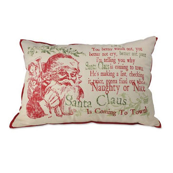 Santa's Coming To Town Throw Pillow