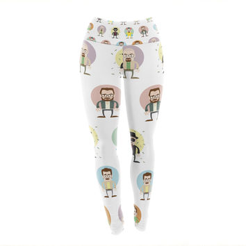 "Juan Paolo ""The Stages of Walter White"" Breaking Bad Yoga Leggings"