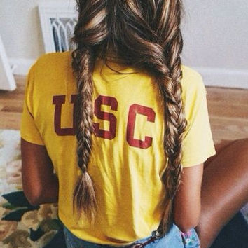 USC Back Banana Yellow Women's Casual T-Shirt