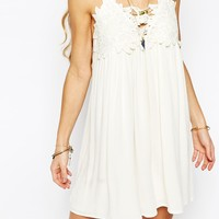 Kiss The Sky Lace Top Sun Dress at asos.com