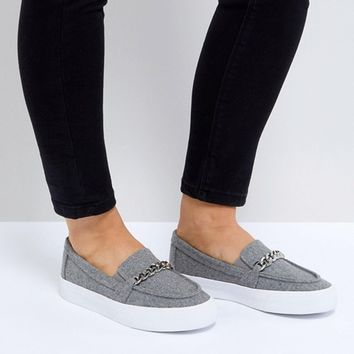 ASOS DERICKA Chain Slip On Sneakers at asos.com
