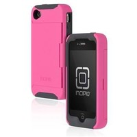 Incipio Stowaway Credit Card Case for iPhone 4/4S - Pink / Gray