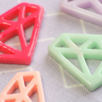 Pastel Goth Diamond Resin Cabochons Kawaii Decoden (5)
