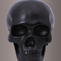 "Rad To The Bone Black 8"" Skull Candle"