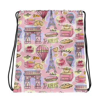 Paris METRO Couture: Cafe Love - Drawstring bag