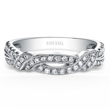 "Kirk Kara ""Pirouetta"" Twist Diamond Wedding Band"