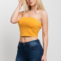 Elsa Tube Top - Yellow
