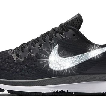 Sale - Nike Air Zoom Pegasus 34 + Crystals - Black/White size 11