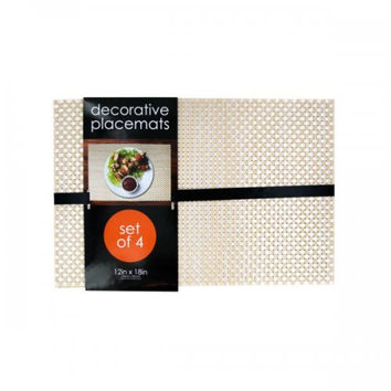 Decorative Bamboo Look Woven Placemat Set (pack of 1)