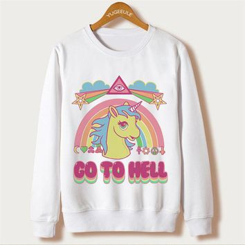 Go To Hell Unicorn Sweater